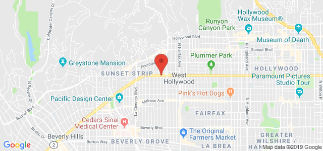 West Hollywood Florist Map